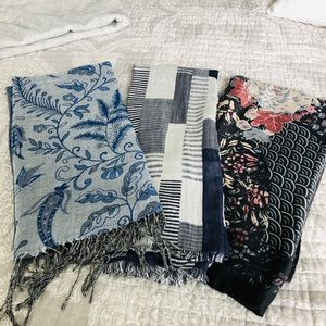 Three beautiful fall large scarves